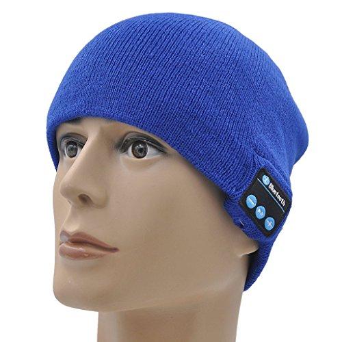 ONX3 Lenovo Tab 2 A10-70 (Blau) Unisex One Size Winter Smart Bluetooth Beanie-Hut mit integriertem Wireless-Kopfhörer