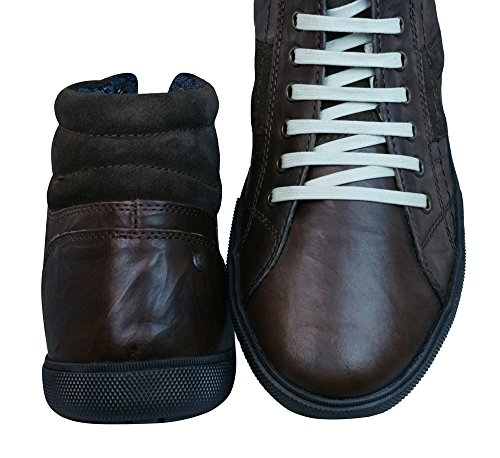 Top Zapatillas Base Cuero Para World Brown Hombre botas Hi London wqZnAxF
