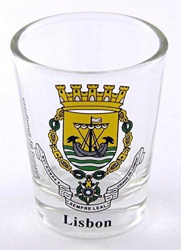 Lisbon Portugal Coat Of Arms Shot Glass