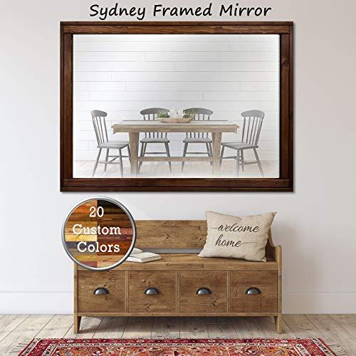 Sydney Rustic Mirror - Vanity Mirror, Bathroom Mirror, Farmhouse Decor, Wood Mirror, - Custom Bathroom Sydney Mirrors