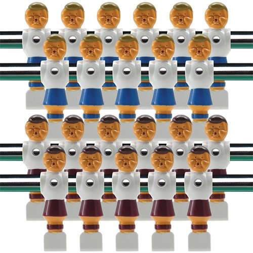 22 Old Style Red and Blue Foosball Men