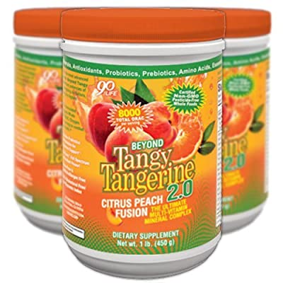 Image of Beyond Tangy Tangerine 2.0 Citrus Peach Infusion Canister 3-Pack by Youngevity Health and Household