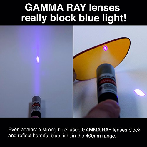 GAMMA RAY Blue Light Blocking Computer Gaming & TV Glasses - 0.00x Magnification by Gamma Ray Optics (Image #2)