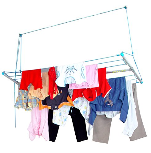 Skylift Ceiling Mounted Cloth Drying Laundry Hanger Stand Ra