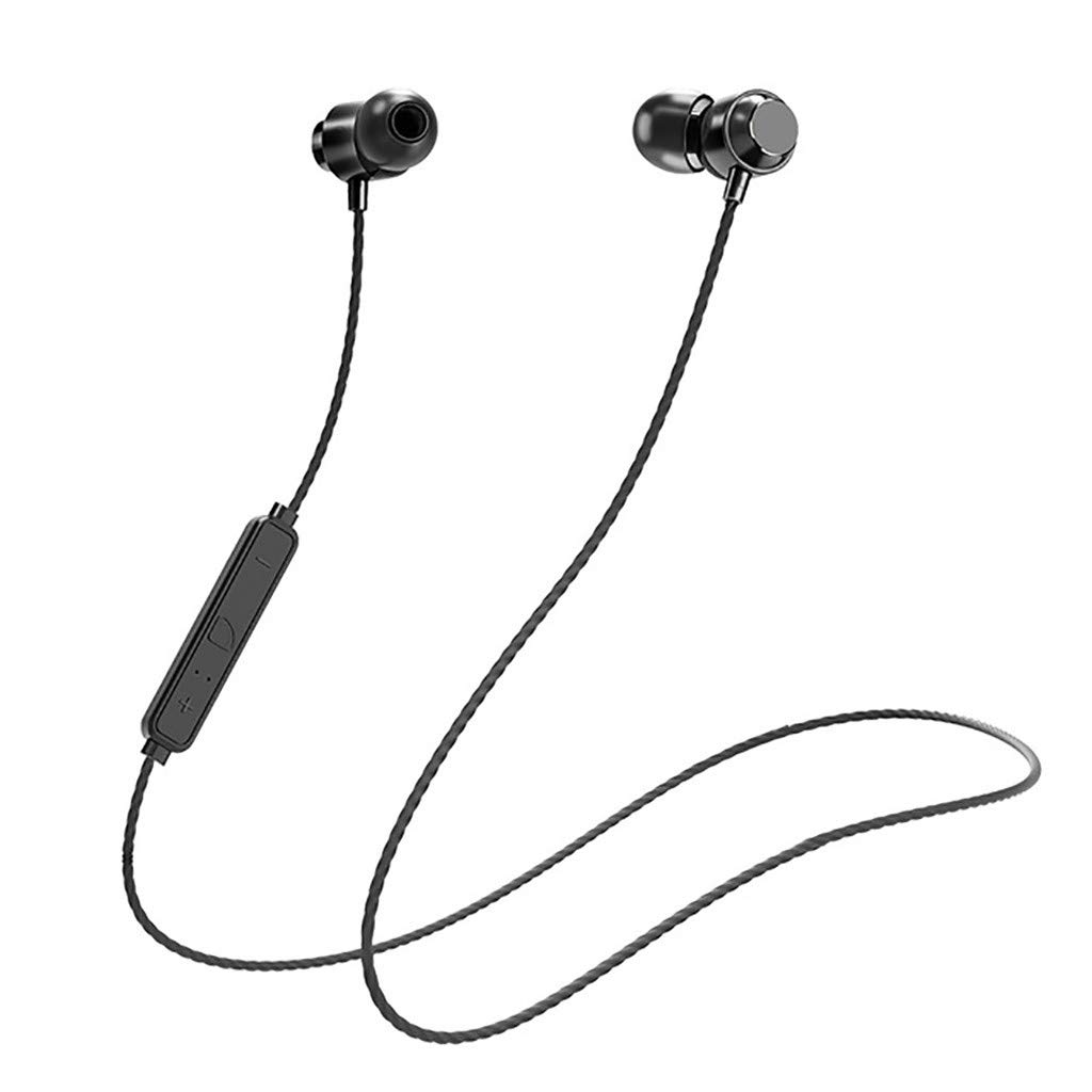 Zhousir Bluetooth Earphones Wireless in-Ear Headphone Waterproof Binaural Stereo Neck Hanging Headset for Sports Working