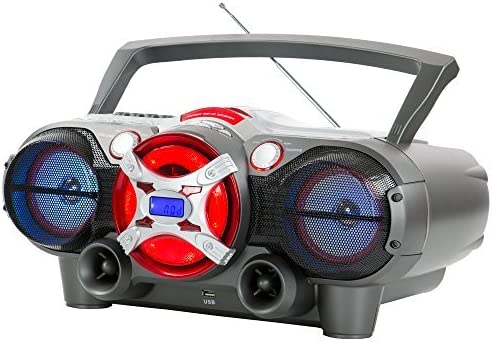 QFX J-50U Portable Jumbo Bluetooth Boombox Radio with MP3//CD Player and Cassette Recorder