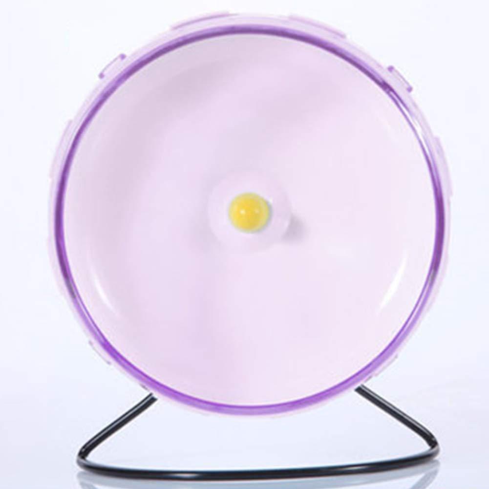 Xinmeitezhubao Hamster Mouse Rat Exercise Plastic Silent Running Spinner Wheel Pet Toy,Purple