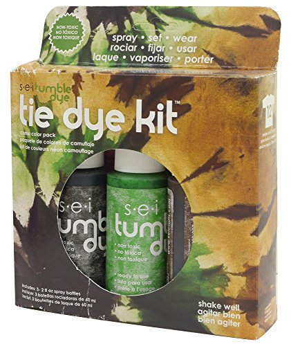 Tie Dye Fabric Paint - SEI BFPCW.BL Tumble Dye Craft & Fabric Tie Dye Kit 2oz 3/Pkg-Camo