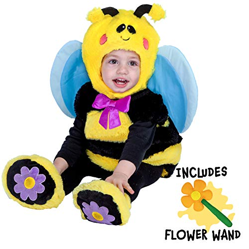 Cute Bumble Bee Halloween Costume (Spooktacular Creations Bumble Baby Bee Costume Deluxe Infant Set for Halloween Trick or Treating Dress Up (12-18 Months))