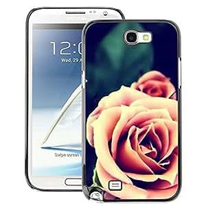 A-type Arte & diseño plástico duro Fundas Cover Cubre Hard Case Cover para Samsung Note 2 N7100 (Pink Orange Close-Up Blossom)
