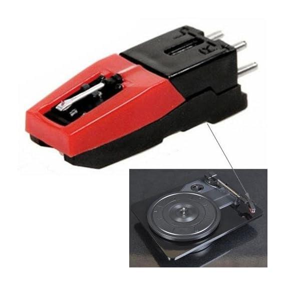 LussoLiv Stereo stylus Needle for Vinyl LP USB Turntable Turnplate (Black)