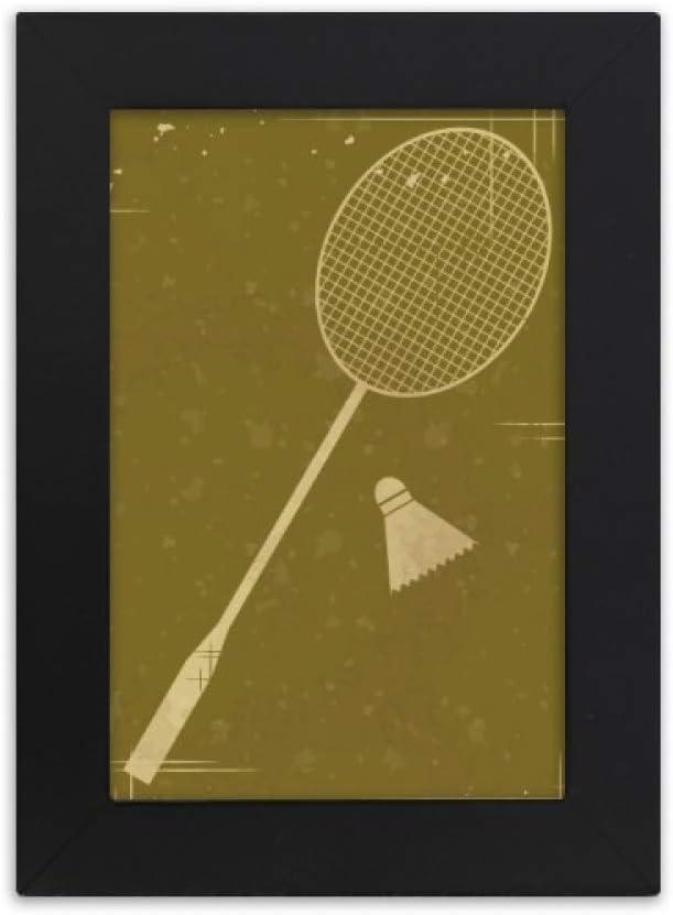 DIYthinker Sport Badminton Illustration Pattern Desktop Photo Frame Picture Display Art Painting Exhibit
