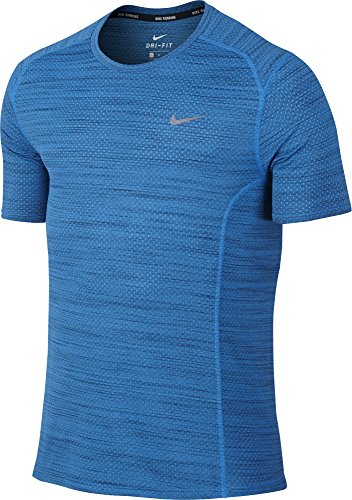 Nike Dri-FIT Cool Miler Running Shirt Light Photo Blue/Black/Reflective Silver Mens T Shirt