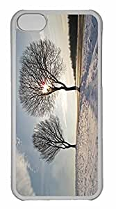 iPhone 5C Case, Personalized Custom Trees Winter 2 for iPhone 5C PC Clear Case