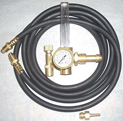 Argon or Argon/CO2 Flowmeter Mig Tig Welding Regulator w 10' Inert Gas Hose