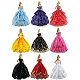 ZITA ELEMENT® Lot 6 PCS Fashion Handmade Clothes Dress for Barbie Doll XMAS GIFT