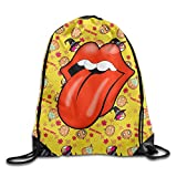 FOODE Rolling Stones Rock Records Logo Drawstring Backpack Sack Bag