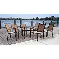Mainstays Sand Dune 7-Piece Patio Dining Set (Brown)