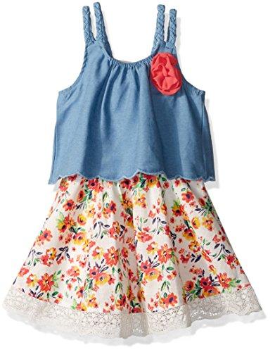 Little Lass Baby Girls 1 Pc Chambray Popover Dress