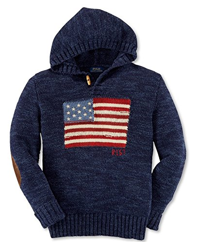 Ralph Lauren Boys' American Flag Hoddie Sweater L 14-16