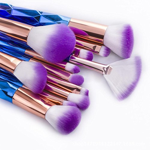 OVERMAL 2017 12PCS Make Up Foundation Eyebrow Eyeliner Blush Cosmetic Concealer Brushes
