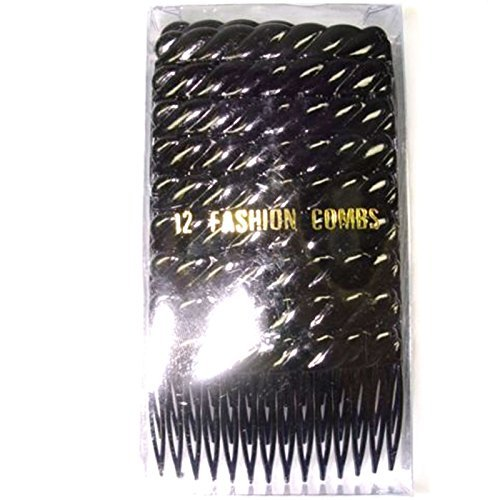 12x black 7cm side combs. Useful hair accessory for fasci...
