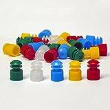 Globe Scientific 118240R Polyethylene Flange Plug Cap for Test Tubes, 13mm Size, Red (Pack of 1000)