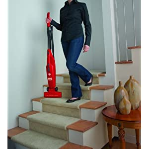 Dirt Devil Vacuum Cleaner Simpli-Stik Lightweight Bagless Corded Stick and Handheld Vacuum SD20000RED