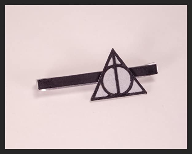 6f46a1f98865 Deathly Hallows Tie Clip | Harry Potter Tie Clip | Gifts for Him | Tie Bar  | Bar Clip | Men's Accessories | Best Man Gifts | Hogwarts