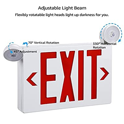 Red LED Exit Red LED Exit Sign with UL Listed Emergency Light