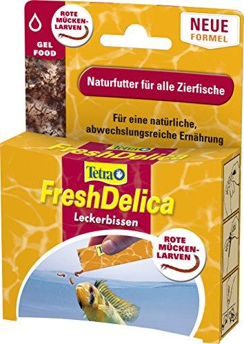 Tetra FreshDelica Rote Mückenlarven Naturfutter (in nährstoffreichem Gelee für alle Zierfische, optimale Alternative zu Frostfutter ohne Kühlung), 16 Einzelbeutel (48 g)