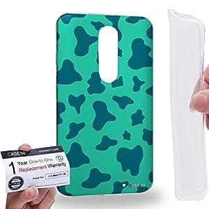 Case88 [Motorola Moto X Force / Droid Turbo 2] Gel TPU Carcasa/Funda & Tarjeta de garantía - Art Fashion Aqua Leopard Multi Colored Animal Art1456