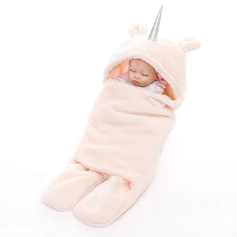 Threecat - Saco de dormir de forro polar para recién nacido, con diseño de unicornio