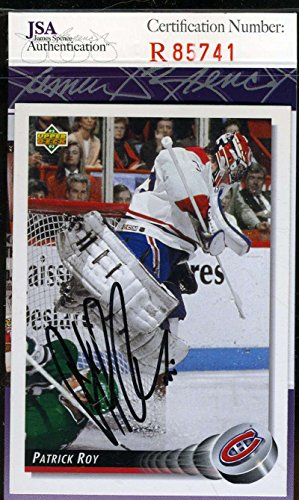 Patrick Roy Hand Signed (PATRICK ROY JSA COA Autographed 1993 UPPER DECK Authentic Hand Signed)