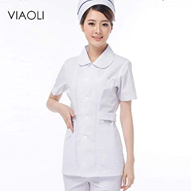 ESENHUANG Unisex White Lab Coat Women Men Suministros De Laboratorio Ropa Blanca Uniformes Médicos Female Male Medical Suit: Amazon.es: Ropa y accesorios