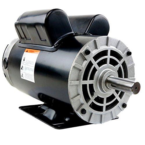 5 HP 3450 RPM, 56 Frame, 230V, 22Amp, 7/8' Shaft, Single Phase NEMA Air Compressor Motor - EM-05