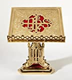 San Pietro Collection High Polished Brass Bible or Missal Stand, 11 Inch