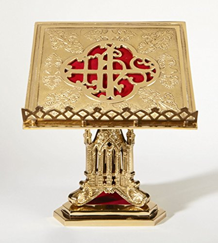 San Pietro Collection High Polished Brass Bible or Missal Stand, 11 Inch by San Pietro Collection