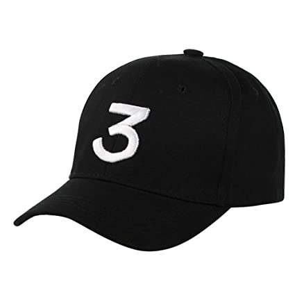 26fdadbcc2d6c Amazon.com  Qualilty Chance The Rapper 3 Dad Hat Baseball Cap Adjustable  Letter Embroidery Hip Hop Hat  Sports   Outdoors