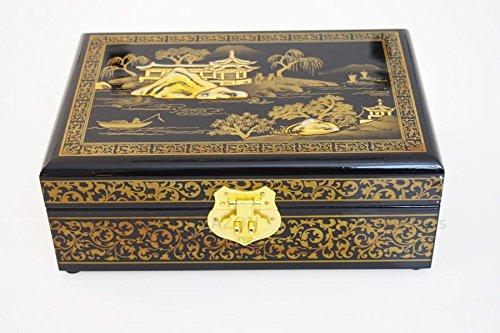 NEXCO Caja de Joyas China (Madera lacada con Espejo Modelo Pekin ...