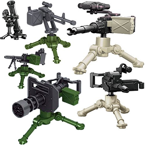 Kolobok Weapon Pack - Guns and Accessories for Soldier Minifigures Custom Action Toy - Military Building Blocks Kit - Modern Army Warfare - Machine Guns War Set - Lot of - Ww2 Machine Guns