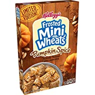 Kellogg's Frosted Mini-Wheats, Breakfast Cereal, Pumpkin Spice, Made with Whole Grain, Limited Edition, 14.3oz Box