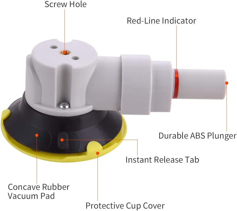 Small Hand Pump Glass Sucker Glass Sucking Tool//Car Sucker for Camera IMT 4.5 Mounting Vacuum Suction Cup with 1//4-20 Female Thread