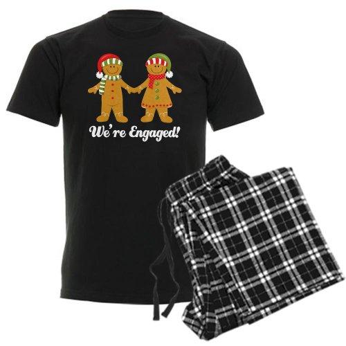 CafePress We're Engaged Christmas Unisex Novelty Cotton Pajama Set, Comfortable PJ Sleepwear (On Christmas Married Day Getting)