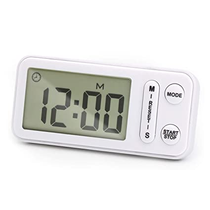 Digital Kitchen Timer, Circrane Cooking Timer battery operated, Large Display, Strong Magnet Back,Memory Function, Display Loud Alarm Clock, for ...