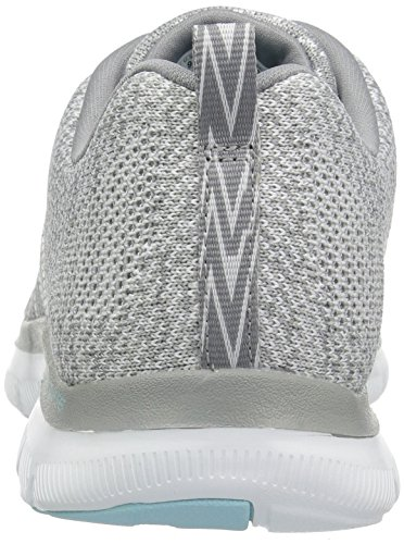 Bianco 2 Appeal Sneaker Grey High Flex Donna 0 White Energy Skechers 8gwO1qx