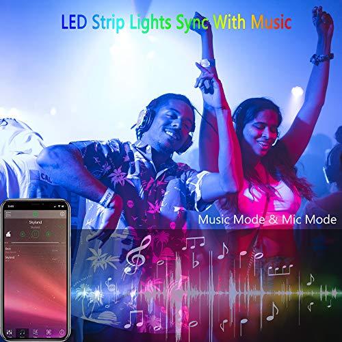 Aogled Ruban LED,Bluetooth Bande LED 10M avec Contrôle APP et Télécommande à 40 Touches,Ruban à LED avec Synchronisation Musicale,Bandes LED 5050 RGB pour Intérieur,Chambre, Salon,Cuisine,Fête
