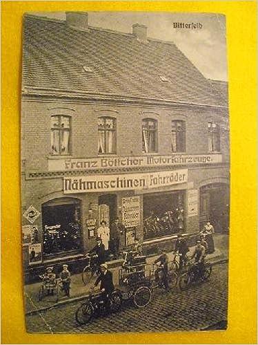 Antigua Postal Publicidad - Advertising Old Postcard : Franz Böttcher - fahrräder - bicicletas - nähmaschinen - máquinas de coser - BITTERFELD - Alemania: ...