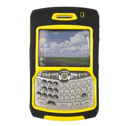 Blackberry Curve 8300/8310/8320/8330 OtterBox Otter Box Defender Series Shield, Black & Yellow Hard Case/Cover/Faceplate/Snap (8330 Faceplate Cover Case)
