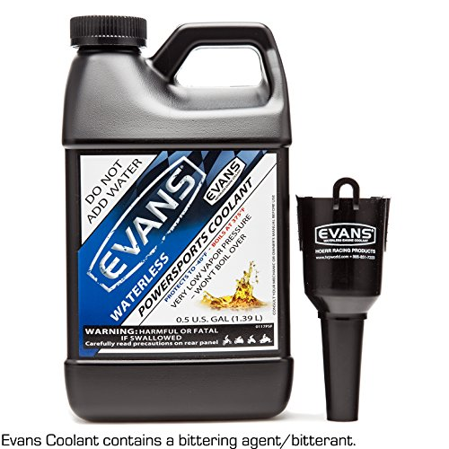 Evans Coolant EC72064 Powersports Waterless Engine Coolant with Funnel, 64 fl. oz.